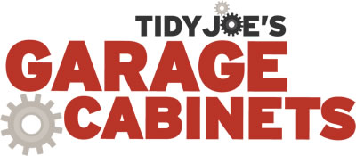 Tidy Joe's Garage Cabinets sold and installed by Cabinets Plus of Detroit Lakes, Minnesota.